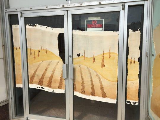 Reader wonders why remnants of paintings of people