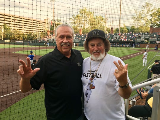 Long-time Vanderbilt baseball fans Jeff Pack and Preacher