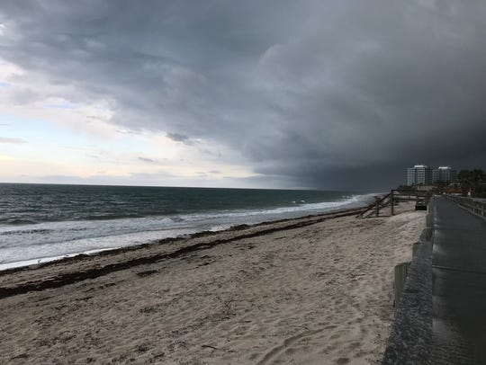 Storm clouds roll in over Vero Beach May 15, 2018.