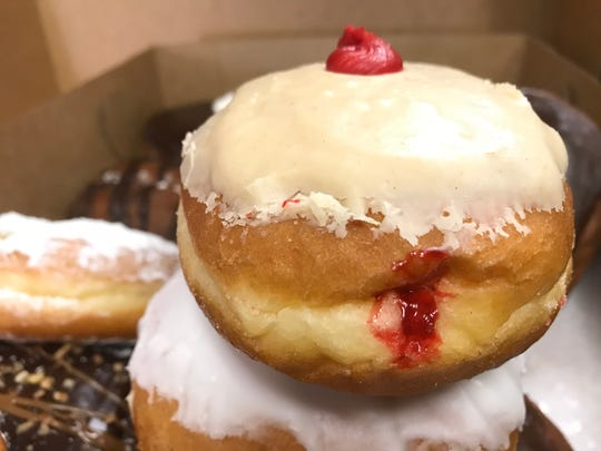 PB&J doughnut from Hill Top Bakery in Kaukauna features