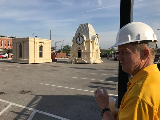 Bob Hudson, with Brandt Construction, explains how