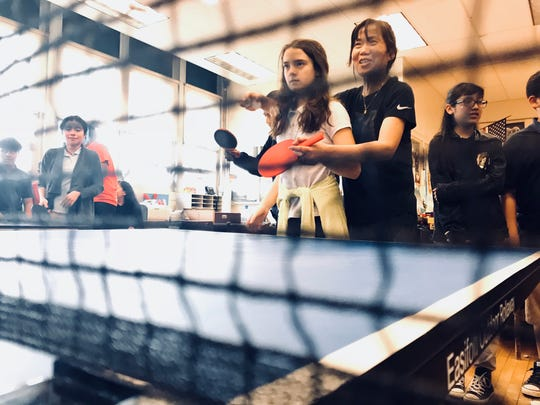 Olympic table tennis player Lily Yip teaches Freehold