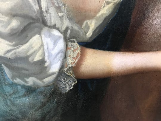 The early cleaning process of the 1680's painting Wagner