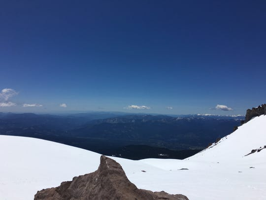 View from the southern flanks of Mt. Shasta on May