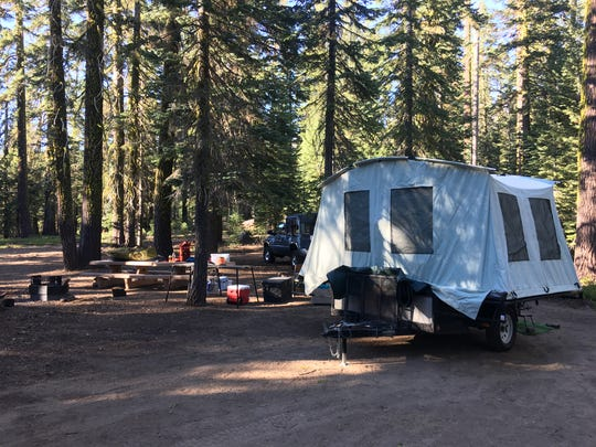 Campsite at Red Fir Flat on Mt. Shasta, May 10, 2018.