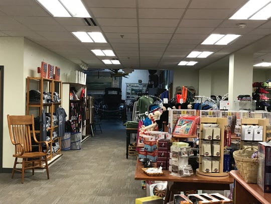 The gift shop at Curtiss Museum