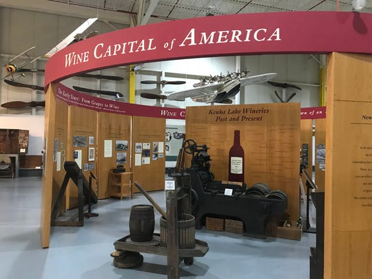 Curtiss Museum has a history of wine area