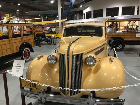 Vintage cars at Curtiss Museum