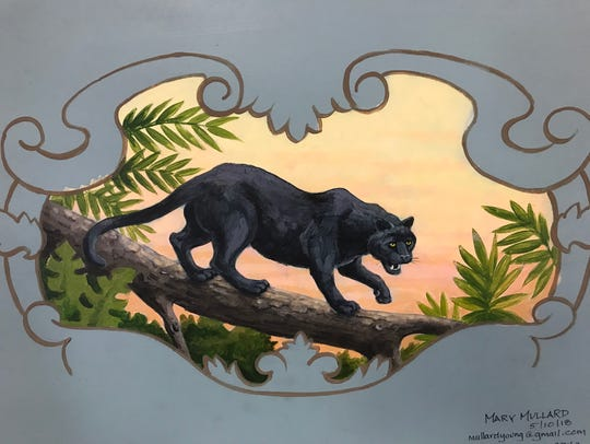 This depiction of a panther by artist Mary Mullard