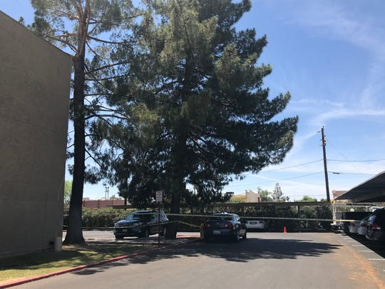 A domestic argument led to a shooting in an apartment