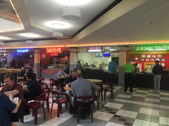 The third-floor food court inside Kaleidoscope at the Hub is pictured here. Blackbird Investments plans to demolish the mall to build a new residential tower.