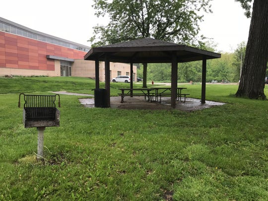 A grill at Terrell Mill Park in Iowa City on May 21, 2018.