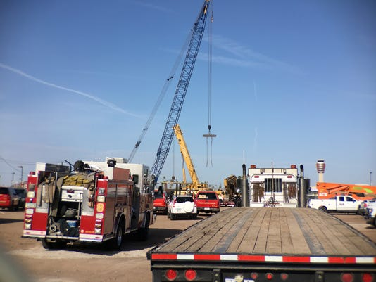 Construction drill rig toppled over in accident at Phoenix Sky Harbor Airport