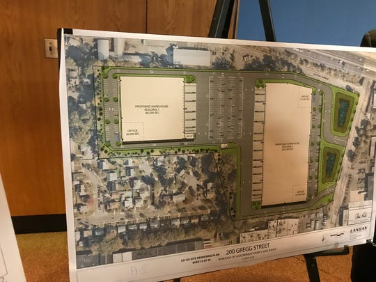 2018 photo: Proposed plans for two warehouses on 200 Gregg Street in Lodi.