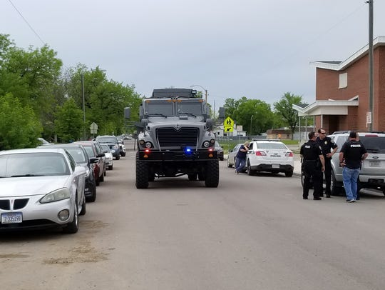 Great Falls Police High Risk Unit arrived at the standoff