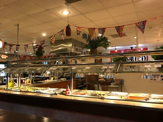 The interior of Tabooleh Mediterranean Buffet in Coralville