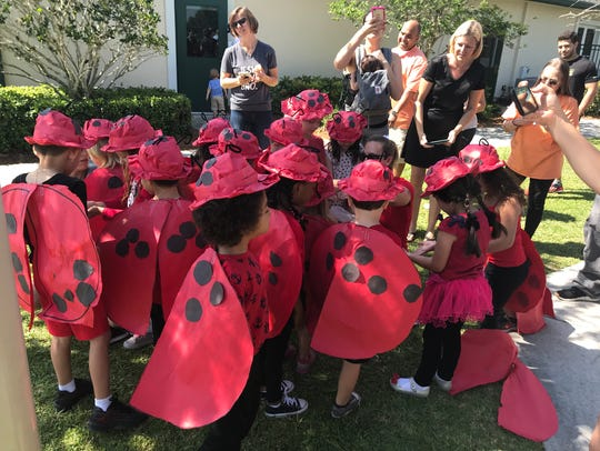 Students were dressed for the occasion, wearing ladybug