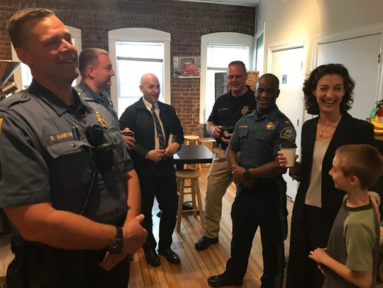 Police hosts visitors to the Boonton Police Department's