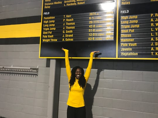 Jahisha Thomas can point to two Iowa records she holds