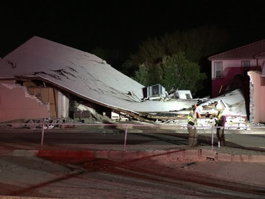 Residents were evacuated in an area north and west of the small neighborhood church, near 13th Avenue and Tonto Street, which collapsed Wednesday night after a possible gas explosion.