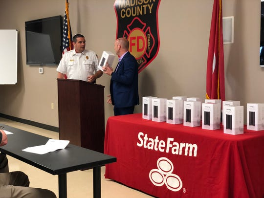 State Farm Agent Wesley Harris presents Madison County