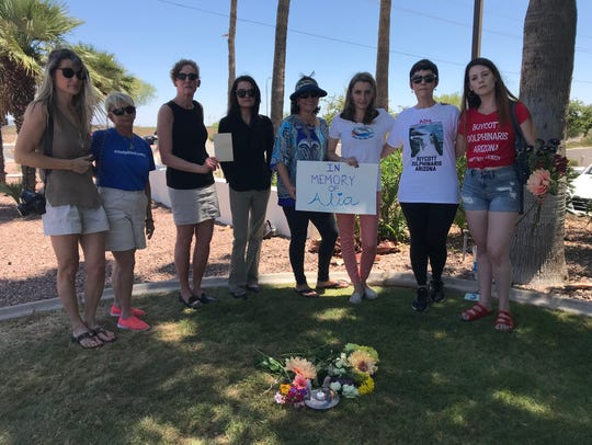 A group of animal activists gathers in Scottsdale on
