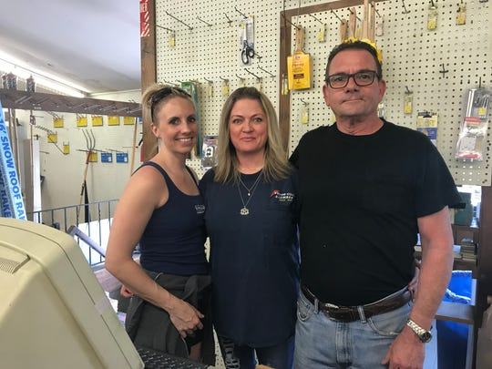Brianna, Tricia and Michael Bliss are inside Victor Coal and Lumber, just days before the doors will close and Michael retires.