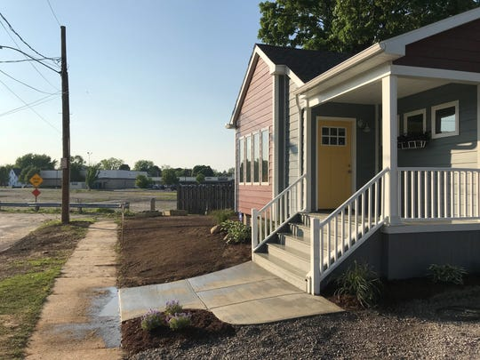 The first of four new houses to be built on Diamond Place in the Beechwood neighborhood in northeast Rochester.