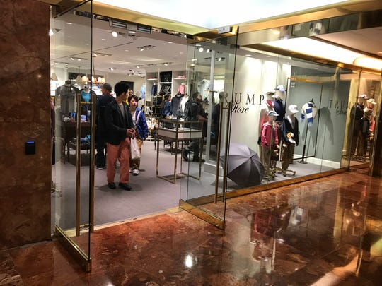 The Trump Store, which opened in late 2017, has a physical