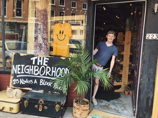 "Austin Scott welcomes customers to ""The Neighborhood,"""