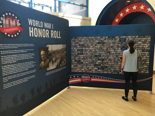 The traveling exhibit honoring fallen Iowans who served during World War I opens Saturday, May 26 at the State Historical Museum of Iowa.