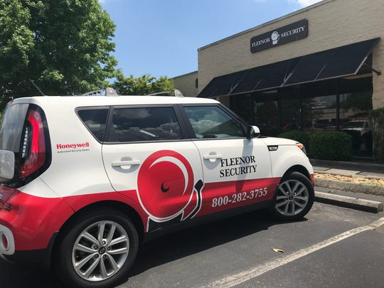Fleenor Security Systems' Knoxville office on Baum Drive, half a mile off Kingston Pike.