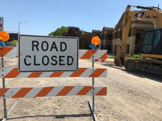 National Avenue closed