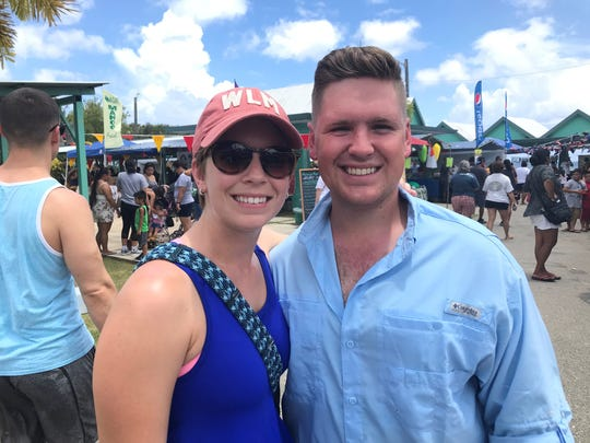 Zach Jedson,26. with his wife Casity 26