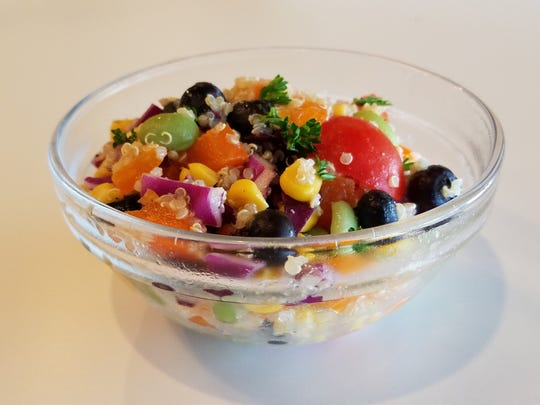 Rainbow quinoa salad might be one of nine deli salads you'll find every day at Planters.