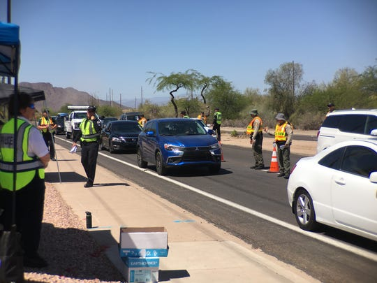 Drivers in Mesa were met with a DUI checkpoint after
