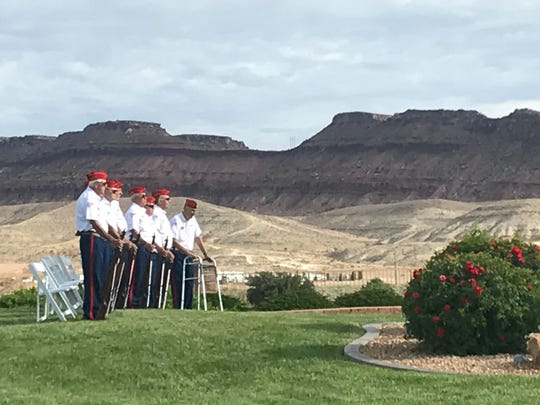A crowd of several hundred people gathered in SunRiver St. George on Monday for a Memorial Day event featuring the American Legion, Dauthers of the American Revolution and other veterans groups, along with a speech from a Gold Star father whose son was killed in action in Iraq.