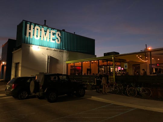 The exterior of HOMES Brewery in Ann Arbor is pictured