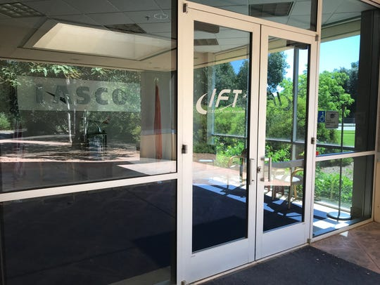 The Iasco Flight Training building in Redding was open