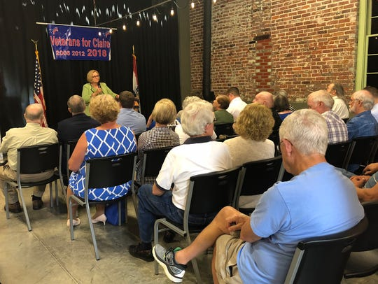 Sen. Claire McCaskill speaks to local members of the