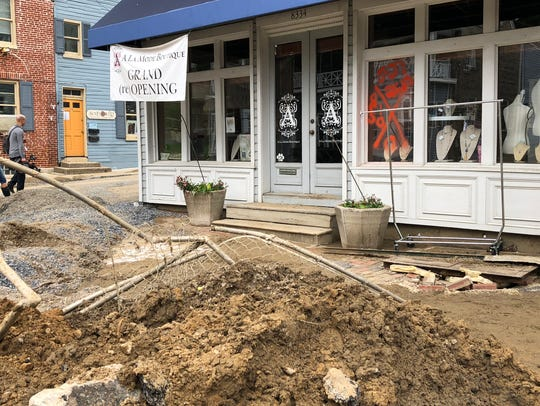 Torrential rains led to massive damage along Main Street