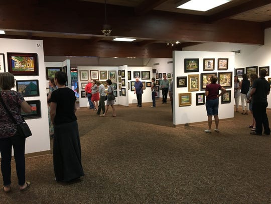 At the end of the weeklong Paint Cedarburg event, hundreds of paintings are available for purchase.