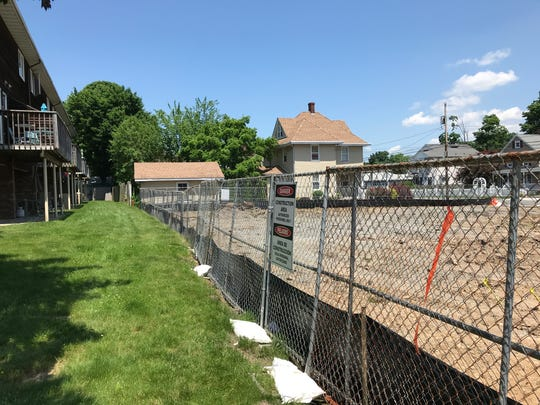 Work has begun on a new mixed used commercial and apartment building at 62 Main Street in downtown Bloomingdale. The site was the location of the former Bloomingdale Pharmacy. In 2014 snow collapsed the roof of the building which was long-vacant at the time.