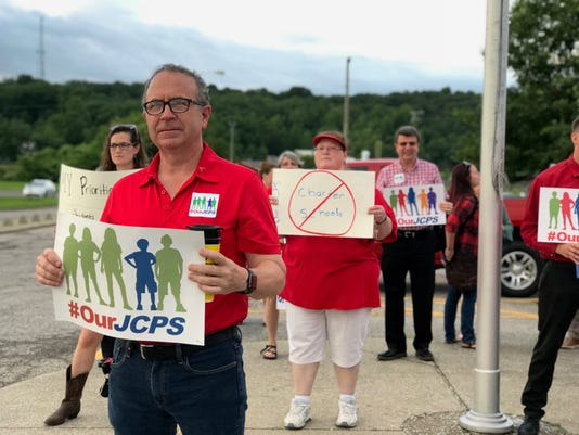 JCPS teachers protest state takeover