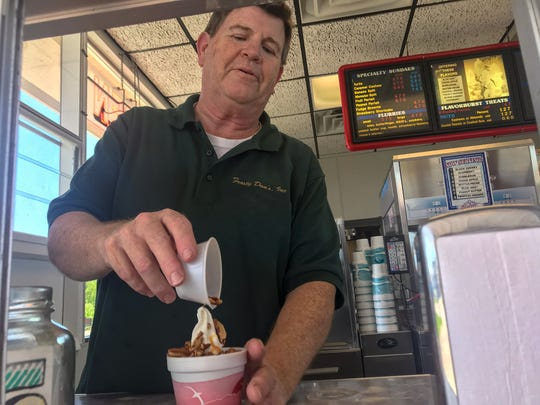 Frosty Dan's in Albion makes fantastic turtle sundaes.