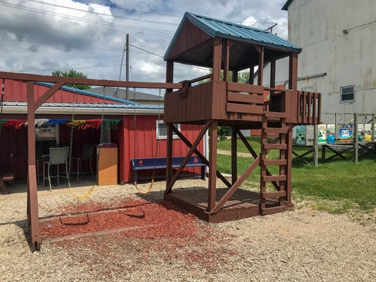Side Track Ice Cream in Marshall has a clear focus on the kids with a playground outside and games to play on the inside to accompany the ice cream.