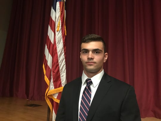 James Lawrence Bellucci, a senior at Pawling High School,