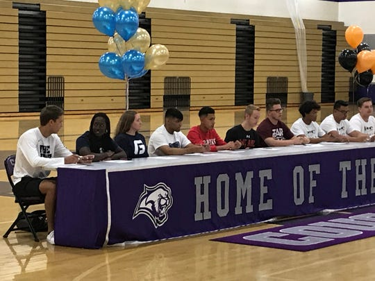 Spanish Springs had 15 students sign for college athletics in a ceremony at the school on Wednesday.