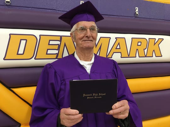 Norman Knuth received his diploma from Denmark High