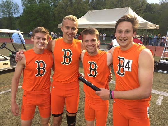 Brighton's 1,600-meter relay team consists of (from